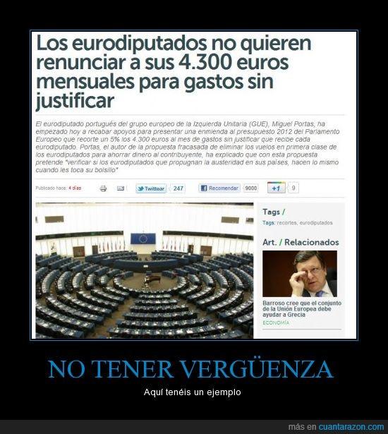 dinero,eurodiputados,gastos,justificar