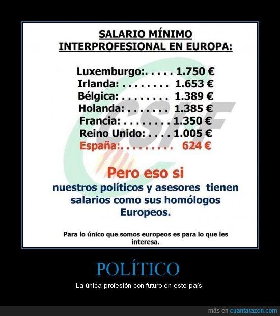 europa,salario mínimo,sueldos