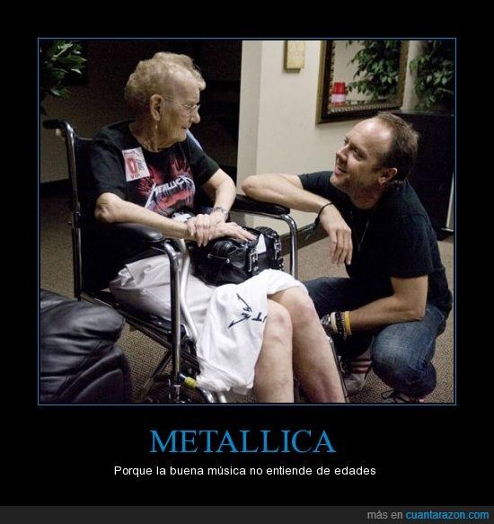 abuela,fan,metallica,rock
