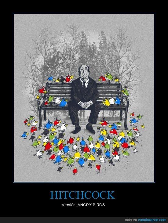 angrybirds,aves,cine,foto,hitchcock,versión