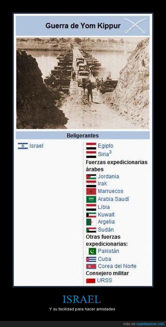 Amigos,Corea,Cuba,Egipto,Enemigos,Forever Alone,Guerra,Israel,Siria,URSS,Wikipedia,Yom Kipur