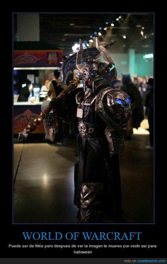 disfraz,friki,halloween,world of warcraft