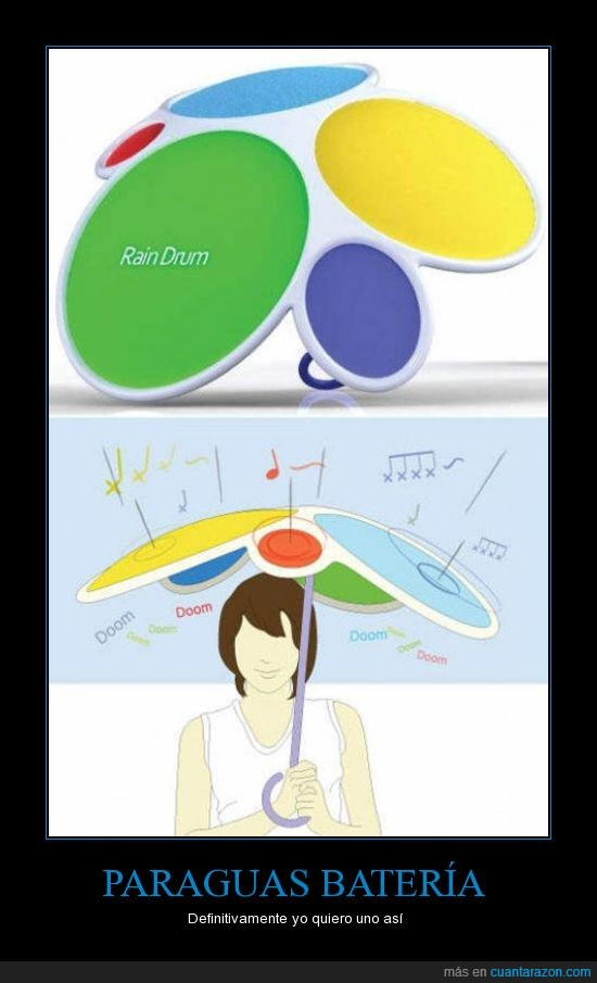 bateria,diseño,lluvia,paraguas