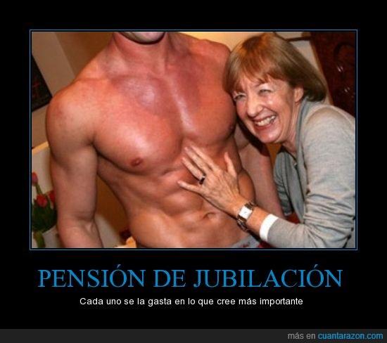 jubilación,jubilada,pectorales,pensión