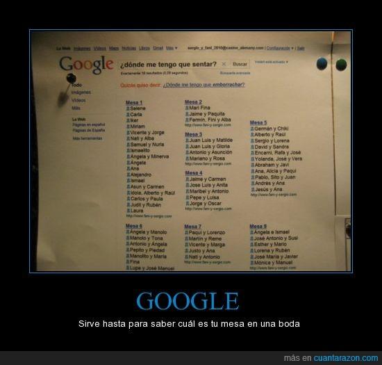 boda,geek,google,mesas,sillas