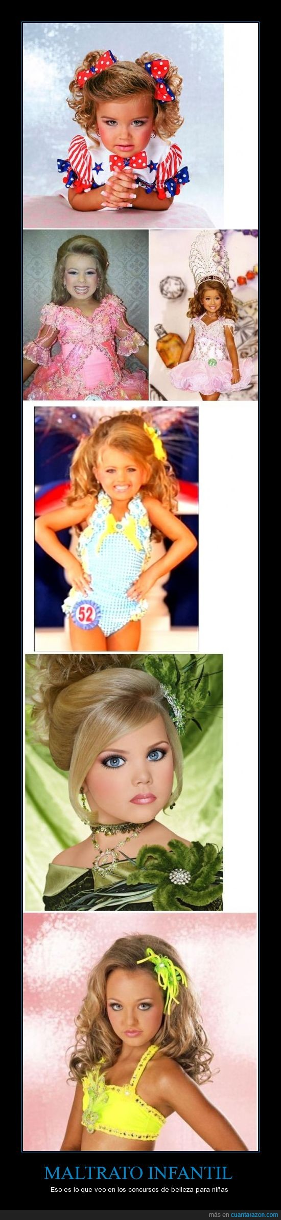 concursos de belleza,maltrato infantil