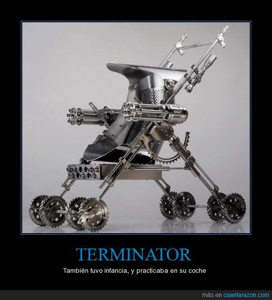 bebé,coche,Terminator