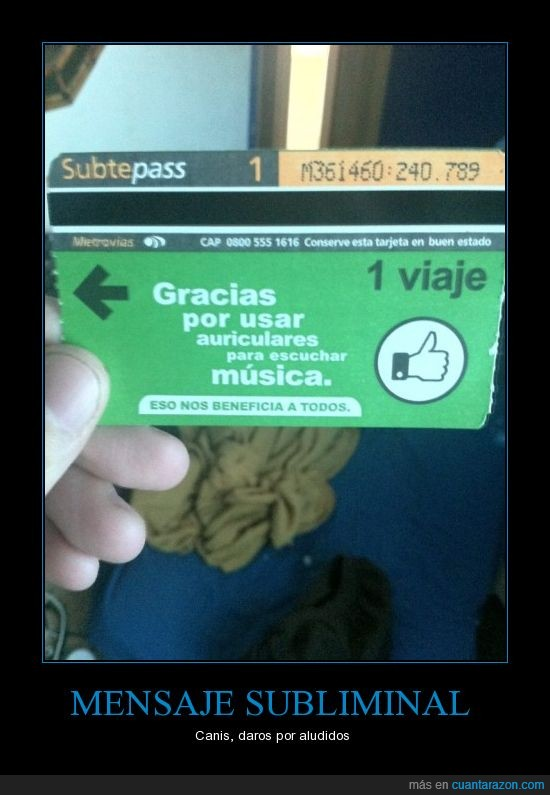 argentina,auriculares,billete,boleto,cani,musica,subte,villeros