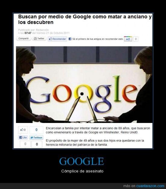 anciano,Asesinar,google