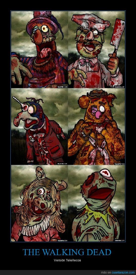 muerte,muppets,piggy,rene,Teleñecos,zombies