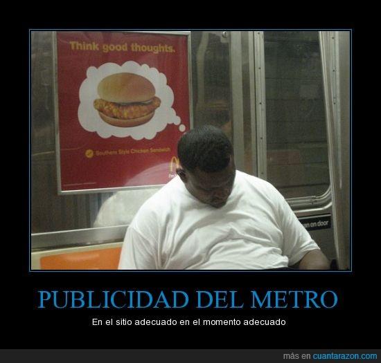 hamburguesas,metro,nueva york,publicidad