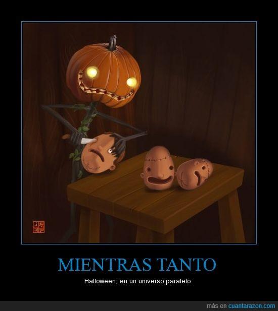 cabeza,calabaza,halloween,paralelo,universo