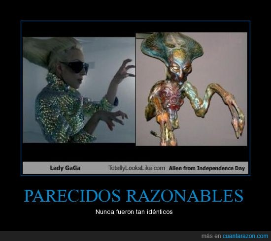 alien,lady gaga,parecidos
