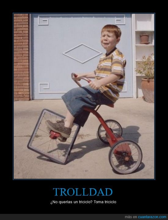 bicicleta,fail,niño,rueda cuadrada,triciclo,Trolldad