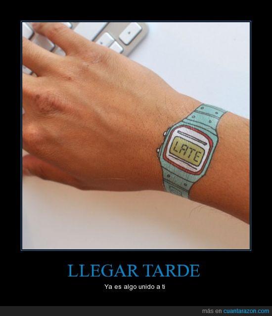 cierto,dibujo,late,reloj,tarde,tatuaje