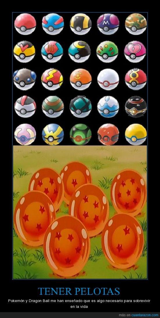 Bolas,Dragon ball,Friki,Pokemon