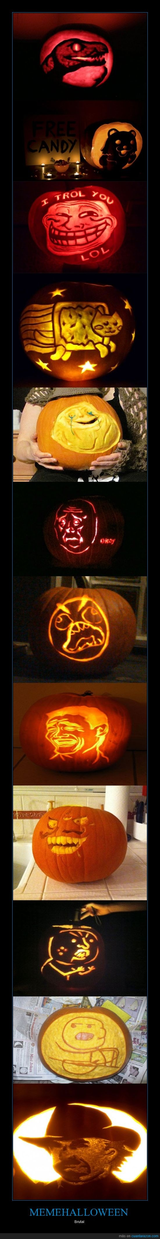 calabazas,chuck norris,halloween,meme