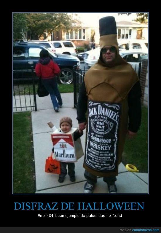 adicción,cigarros,Disfraz,gilipollez,Halloween,Jack Daniels,Padres,vicio,whisky