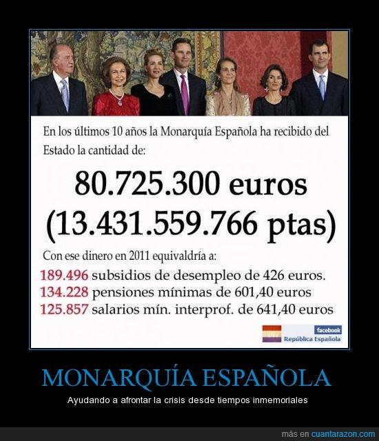 afrontar,ayudar,crisis,dinero,española,euros,monarquía,rey