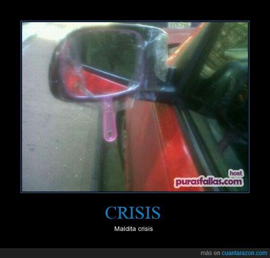 coche,crisis,espejo,maldita,retrovisor