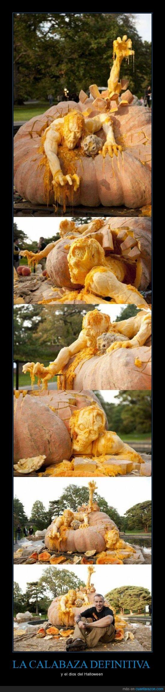 calabaza,escultura,halloween