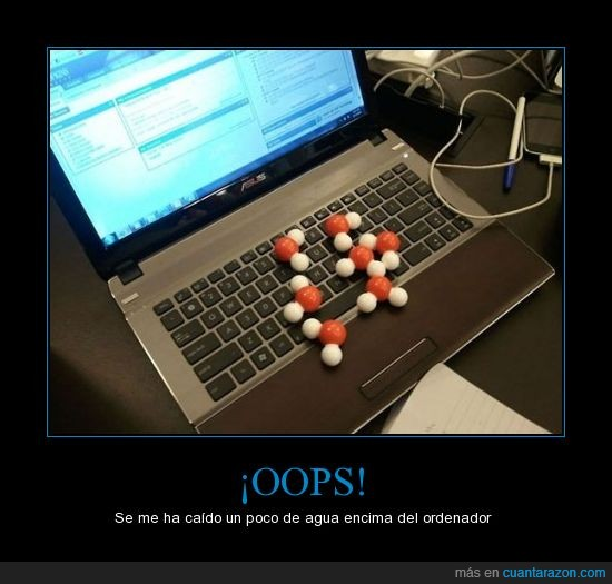 agua,H20,laptop,molécula,ordenador,portátil