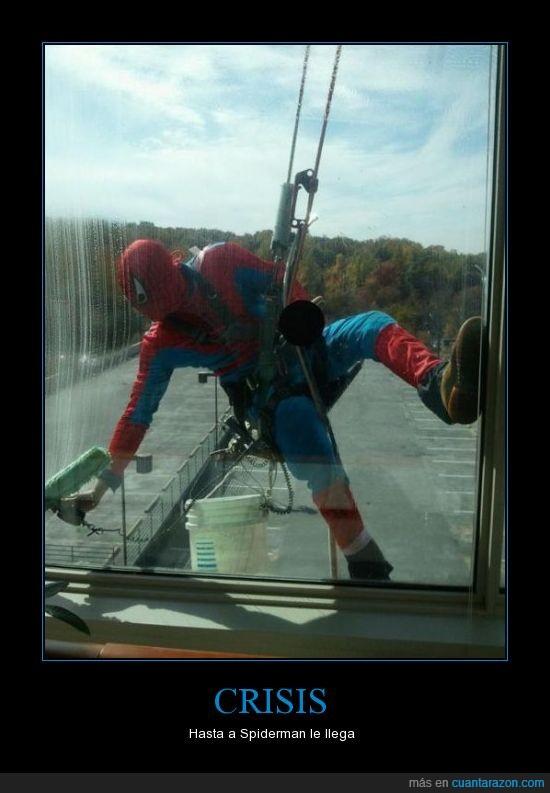 crisis,cristales,lavar,spiderman