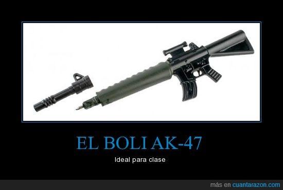 ak-47,bolígrafo