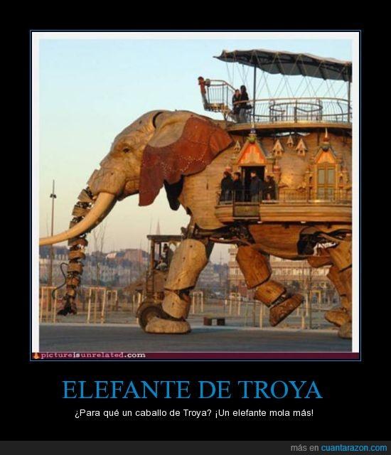 caballo,elefante de Troya