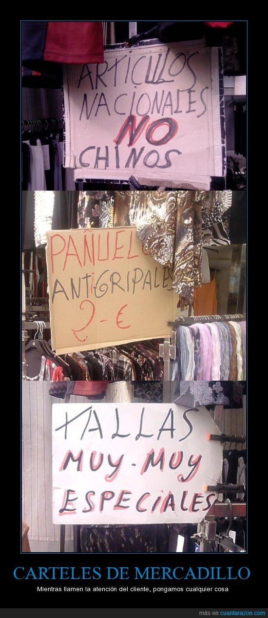 articulos,carteles,chinos,comprar,fotos,mercadillo,mercado,puestos,tonteria,vender