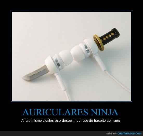 auriculares,katana,ninja