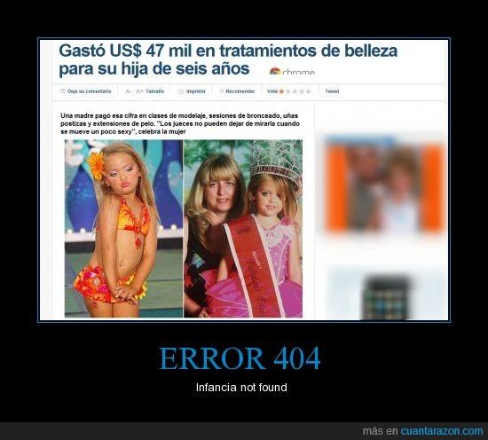 error 404,infancia,malos padres,modelaje,niña