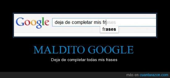 Completar frases,Google