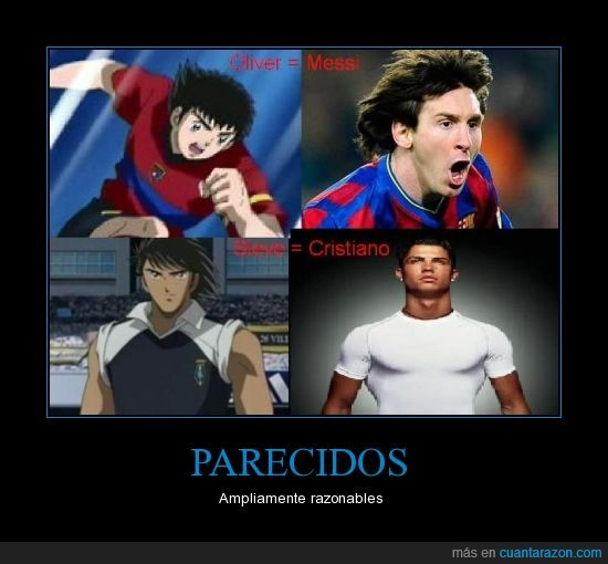 cr7,messi,parecidos,realidad,supercampeones