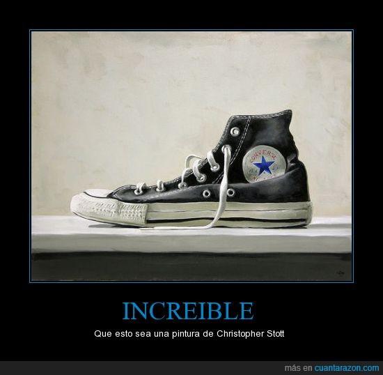 Christopher,Converse,fotografia,Pinturas,realismo,Stott,zapatos
