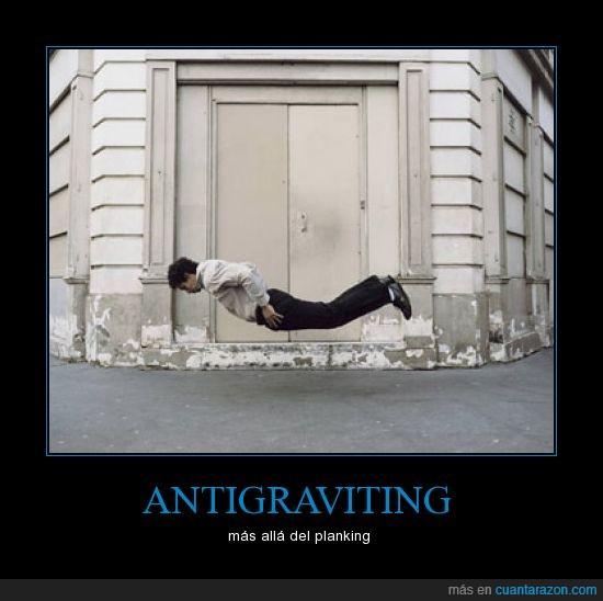 antigraviting,caída,extremo,gravedad,planking