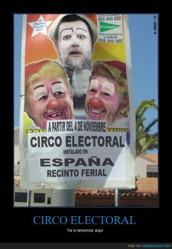 circo,españa,política,PP,PSOE