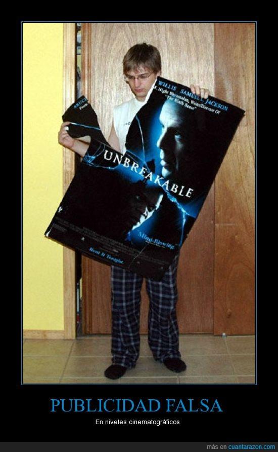 película,poster,publicidad falsa,unbreakable