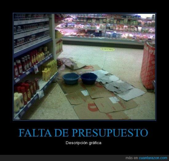 crisis,goteras,supermercado