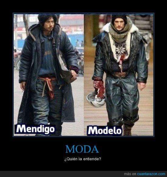 mendigo,moda,modelo,pasarela