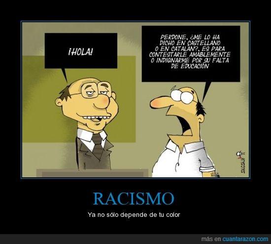 castellano,catalan,racismo