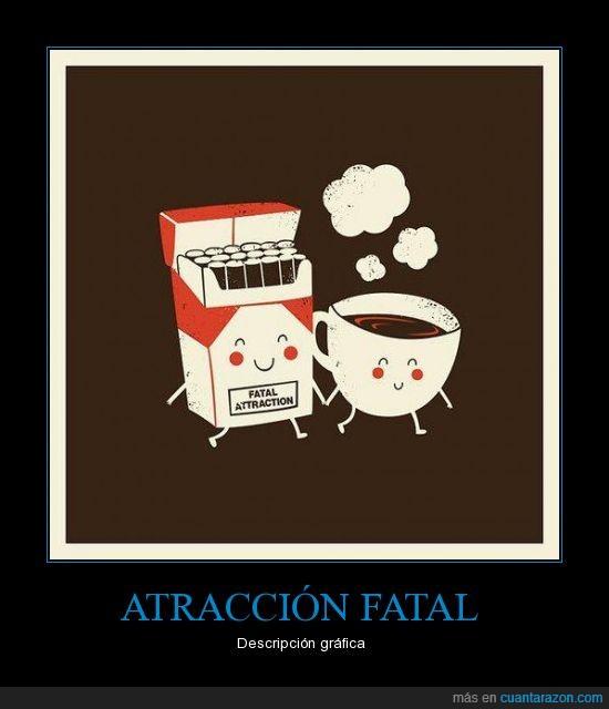 atracción fatal,baño,café,cagar,cigarros