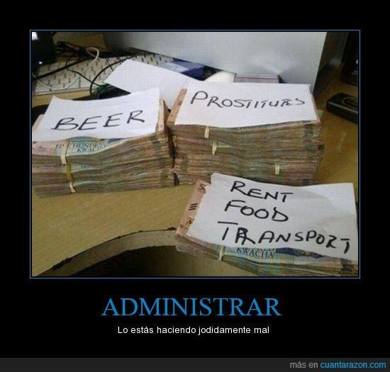 administrar,alquiler,billetes,cerveza,comida,dinero,ingles,transporte