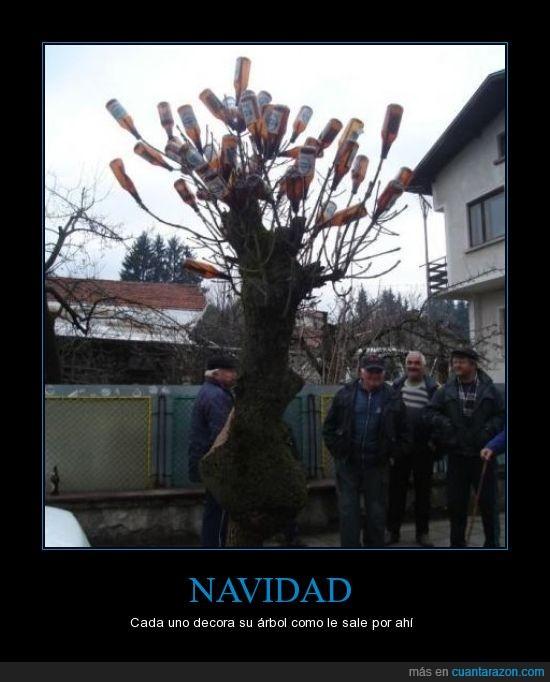 abuelos,Árbol,cervezas,Navidad