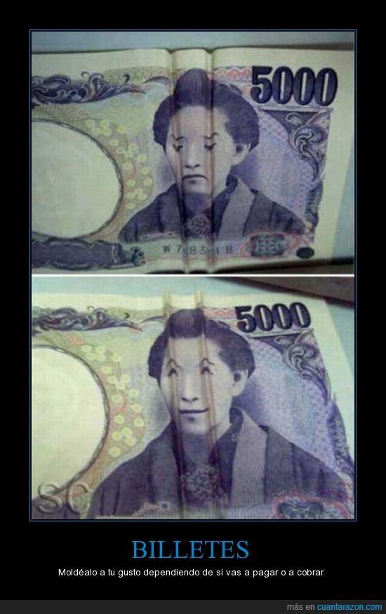 billetes,cara,ojos