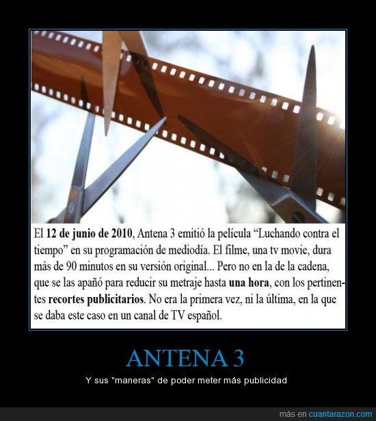 antena 3,película,publicidad