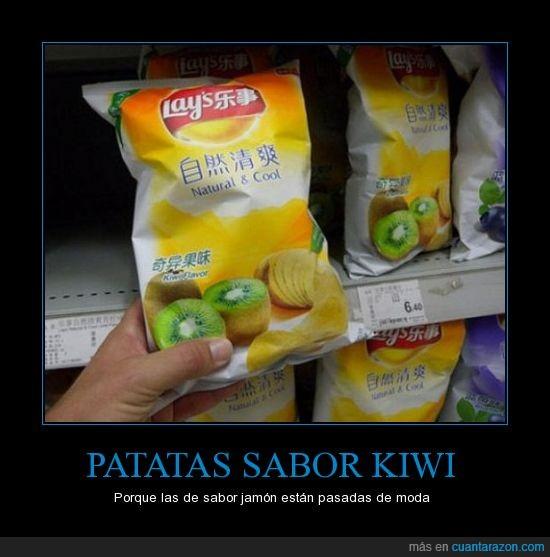 kiwi,patatas,sabor,supermercado
