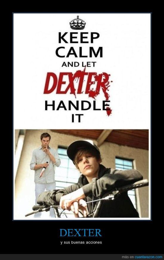 aseninato,Bieber,Dexter,montaje