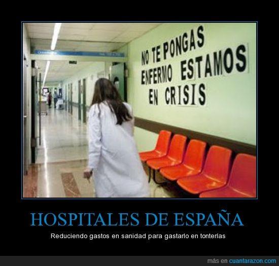 crisis,enfermeros,enfermo,hospital,médicos,política,recortes,sanidad