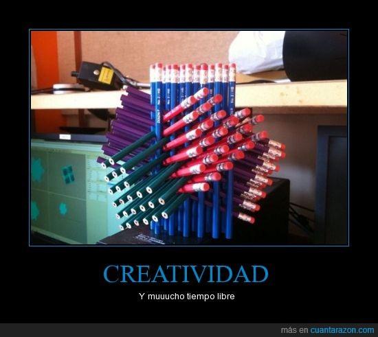 escultura,lápices,lápiz